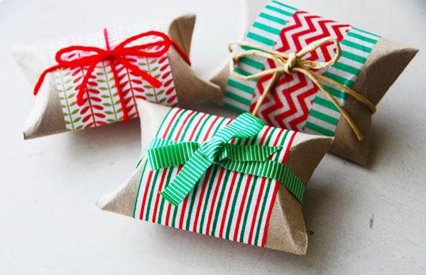 Scatole da regalo fai da te con rotoli di carta igienica