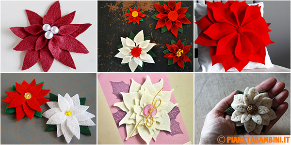 Idee per creare stelle di Natale in feltro