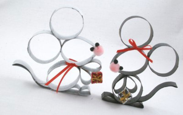 Come creare dei topolini con rotoli di carta