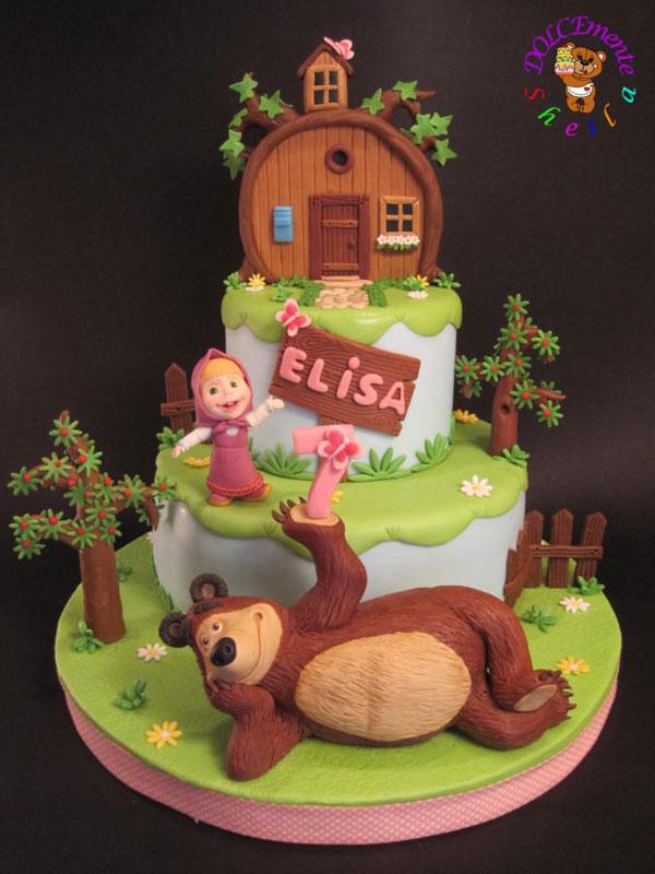 Immagine della torta di Masha e Orso n.01