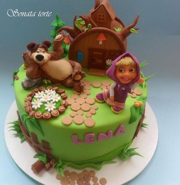 Immagine della torta di Masha e Orso n.04