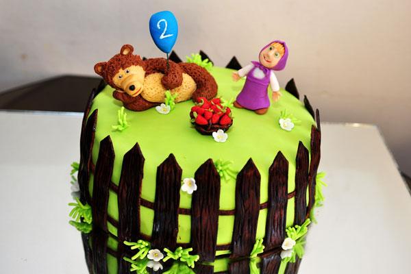Immagine della torta di Masha e Orso n.05