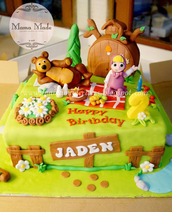 Immagine della torta di Masha e Orso n.06