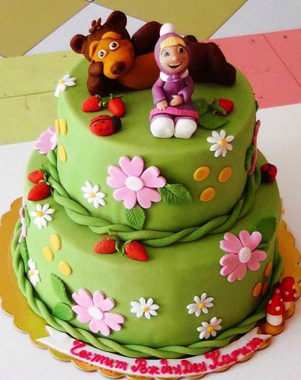 Immagine della torta di Masha e Orso n.07