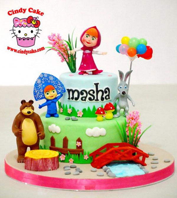Immagine della torta di Masha e Orso n.08