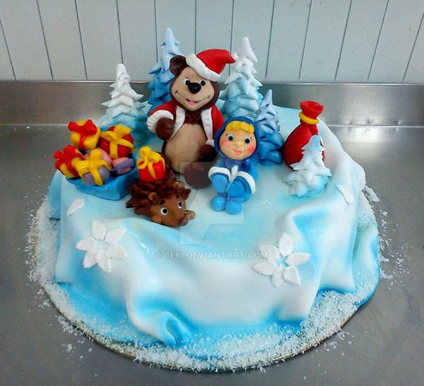 Immagine della torta di Masha e Orso n.09