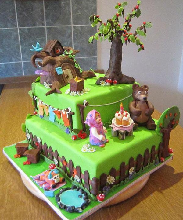 Immagine della torta di Masha e Orso n.10