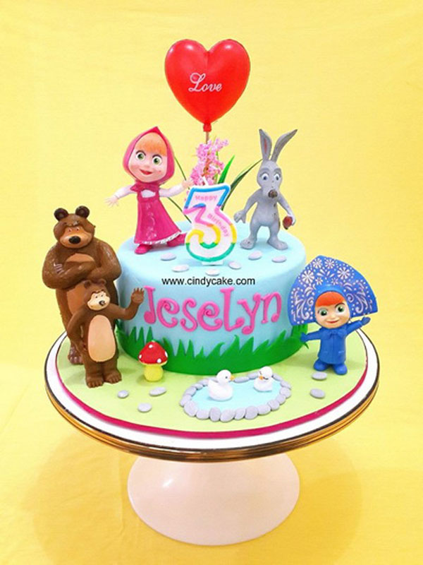 Immagine della torta di Masha e Orso n.11
