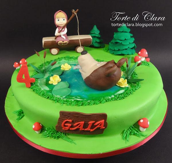 Immagine della torta di Masha e Orso n.12