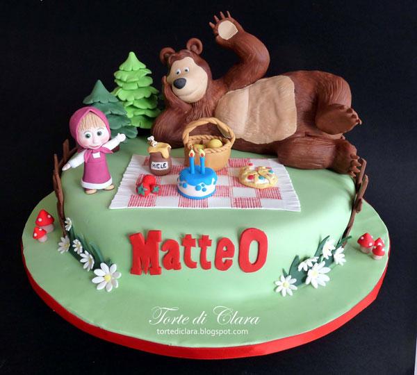 Immagine della torta di Masha e Orso n.13