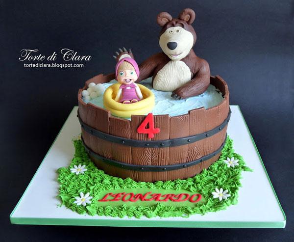 Immagine della torta di Masha e Orso n.14