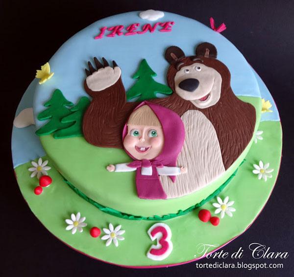 Immagine della torta di Masha e Orso n.15