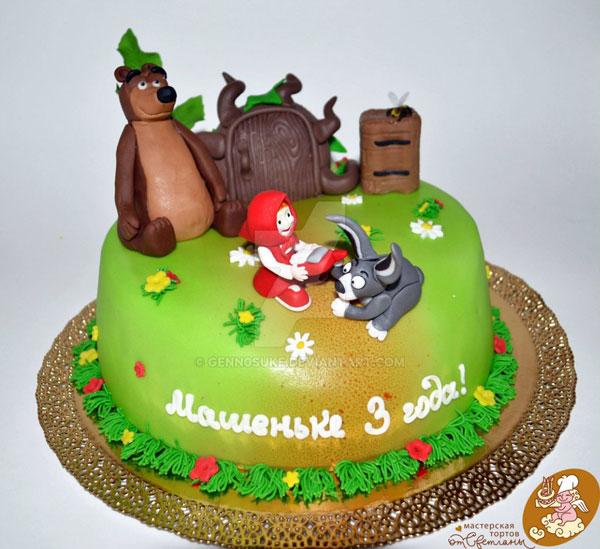 Immagine della torta di Masha e Orso n.17