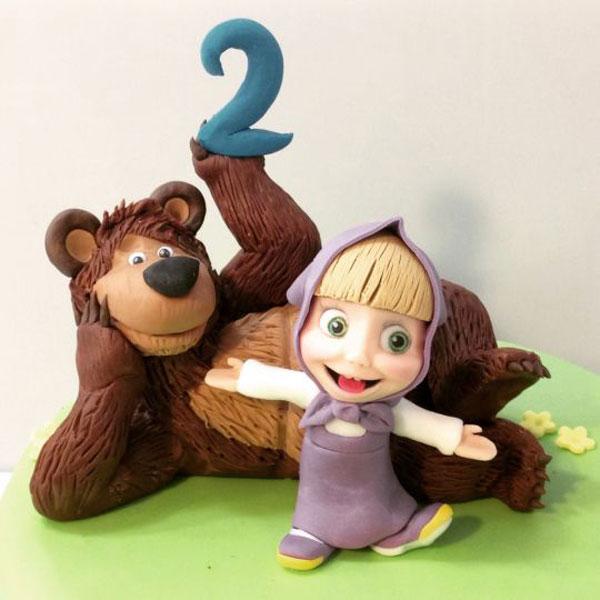 Immagine della torta di Masha e Orso n.18