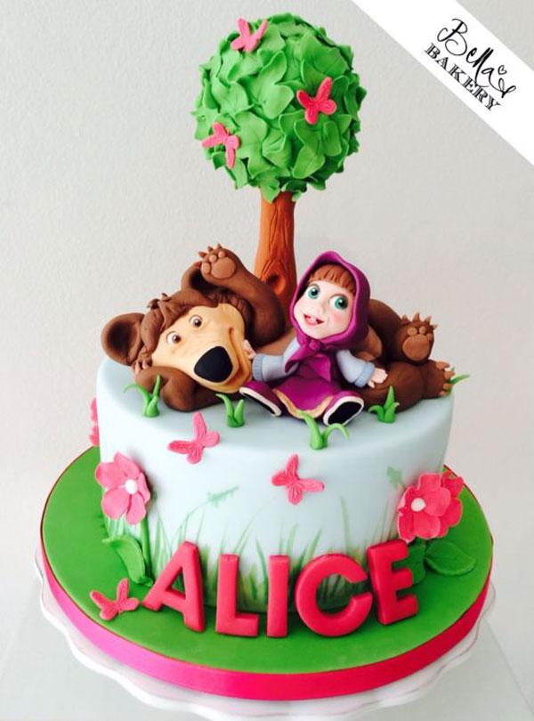 Immagine della torta di Masha e Orso n.21