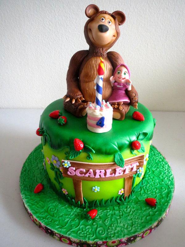 Immagine della torta di Masha e Orso n.22