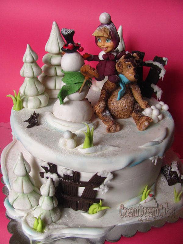 Immagine della torta di Masha e Orso n.23