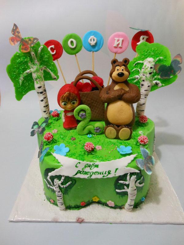 Immagine della torta di Masha e Orso n.25