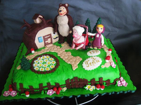 Immagine della torta di Masha e Orso n.27