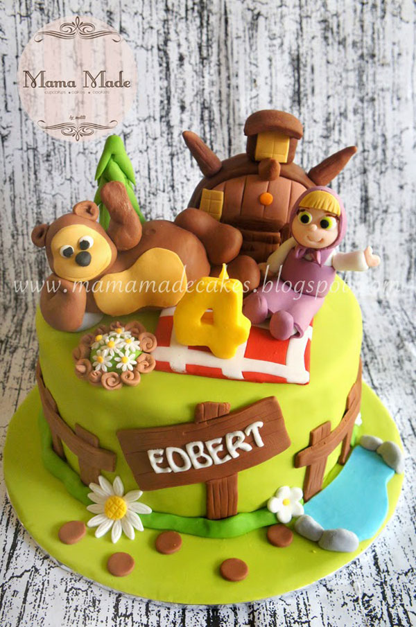 Immagine della torta di Masha e Orso n.28