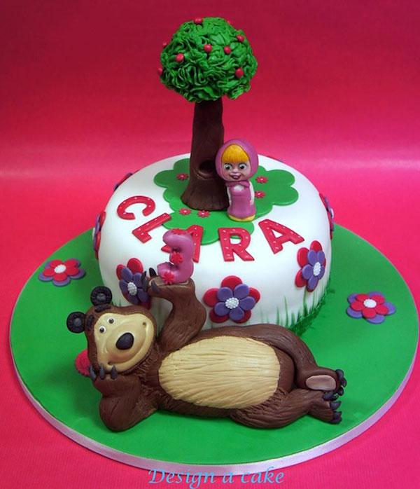 Immagine della torta di Masha e Orso n.29