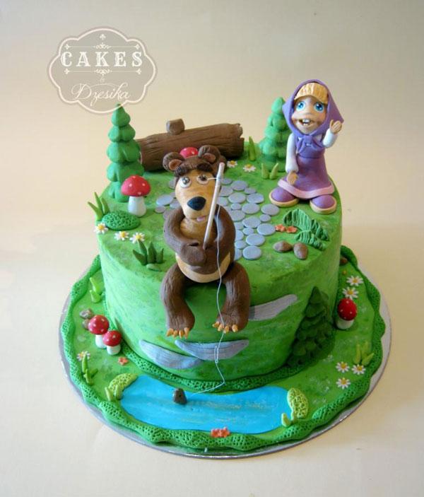 Immagine della torta di Masha e Orso n.30
