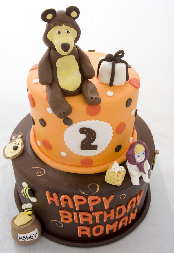 Immagine della torta di Masha e Orso n.32