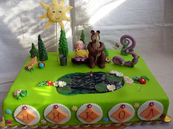 Immagine della torta di Masha e Orso n.33