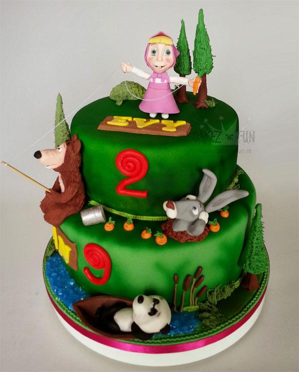 Immagine della torta di Masha e Orso n.34