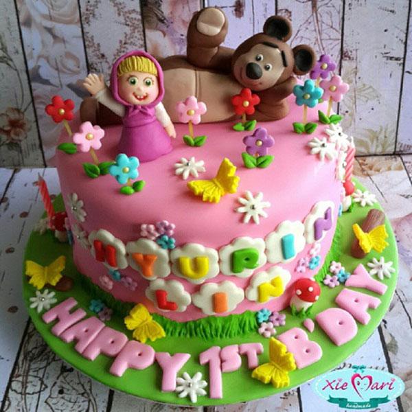 Immagine della torta di Masha e Orso n.35