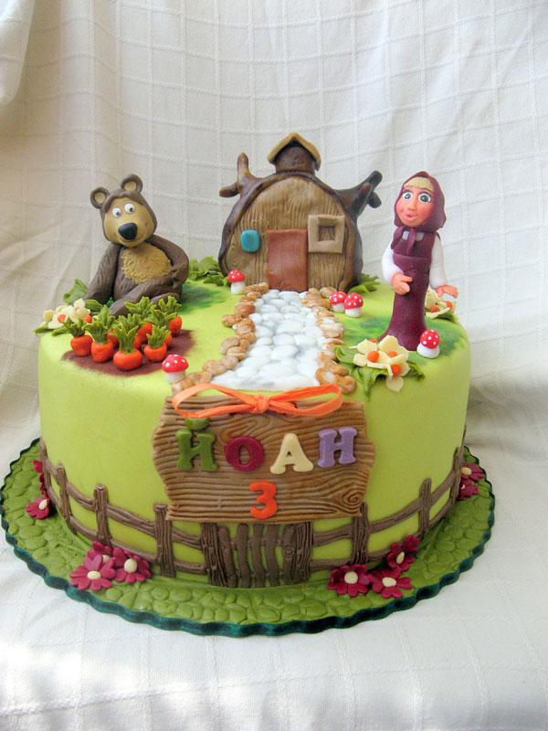 Immagine della torta di Masha e Orso n.36