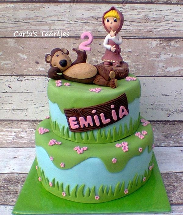Immagine della torta di Masha e Orso n.37