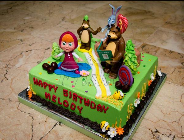 Immagine della torta di Masha e Orso n.38