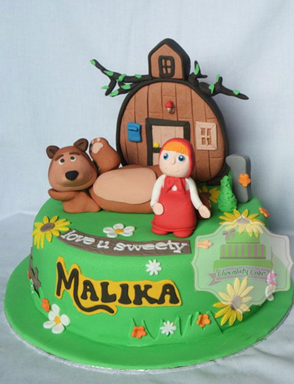Immagine della torta di Masha e Orso n.39