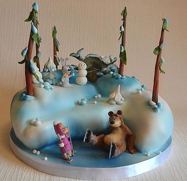 Immagine della torta di Masha e Orso n.41