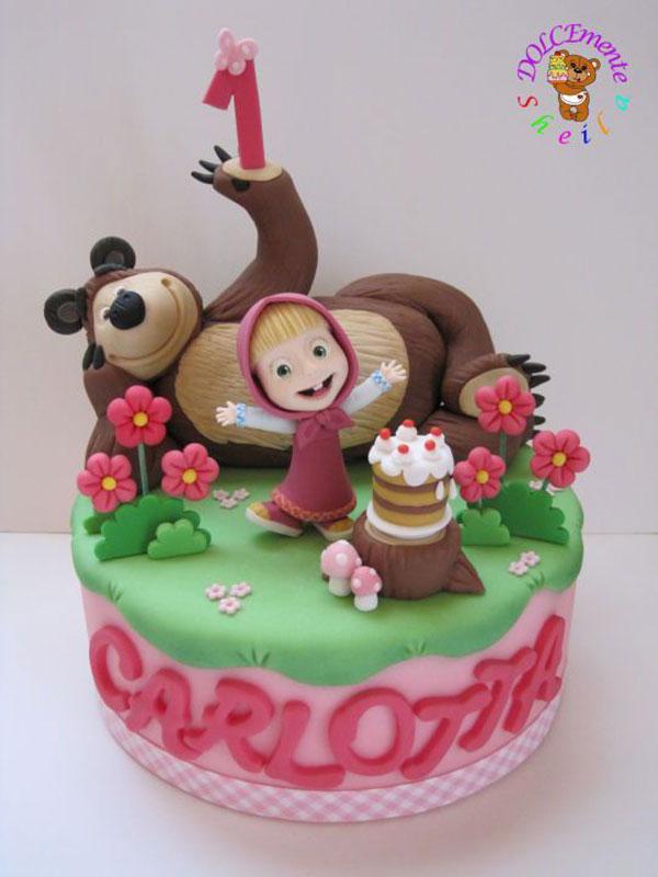 Immagine della torta di Masha e Orso n.42