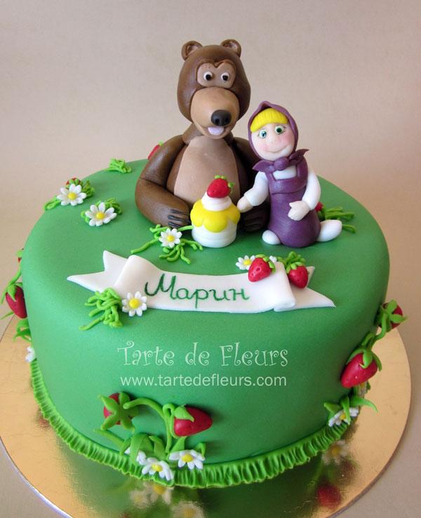 Immagine della torta di Masha e Orso n.43