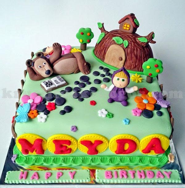 Immagine della torta di Masha e Orso n.46