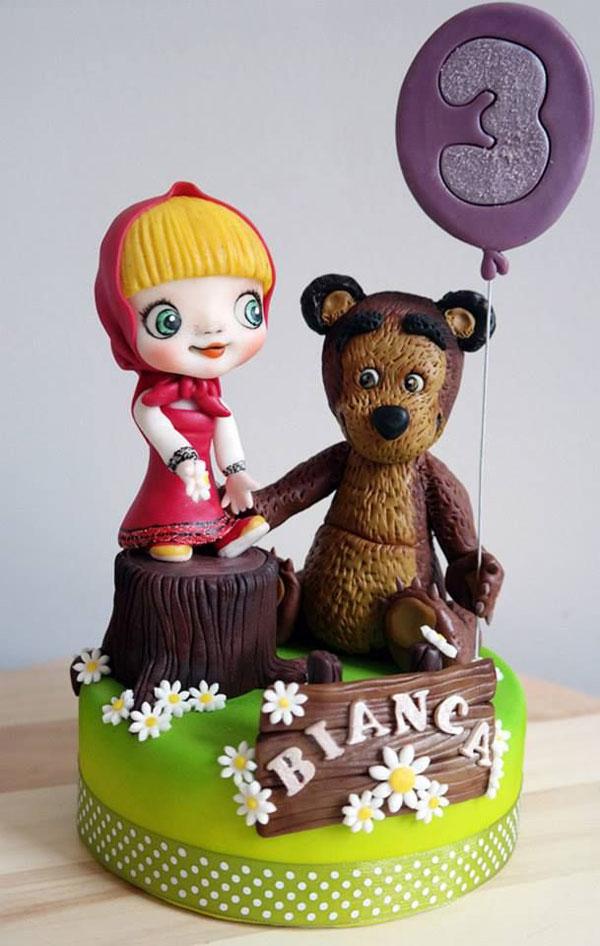Immagine della torta di Masha e Orso n.47
