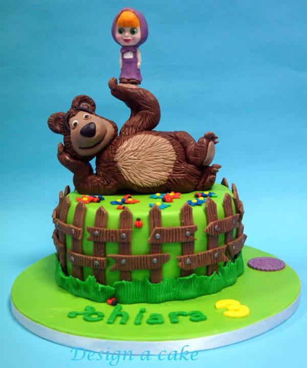 Immagine della torta di Masha e Orso n.48
