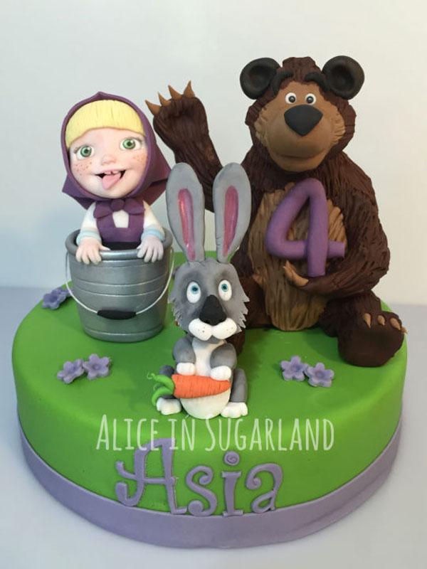 Immagine della torta di Masha e Orso n.49