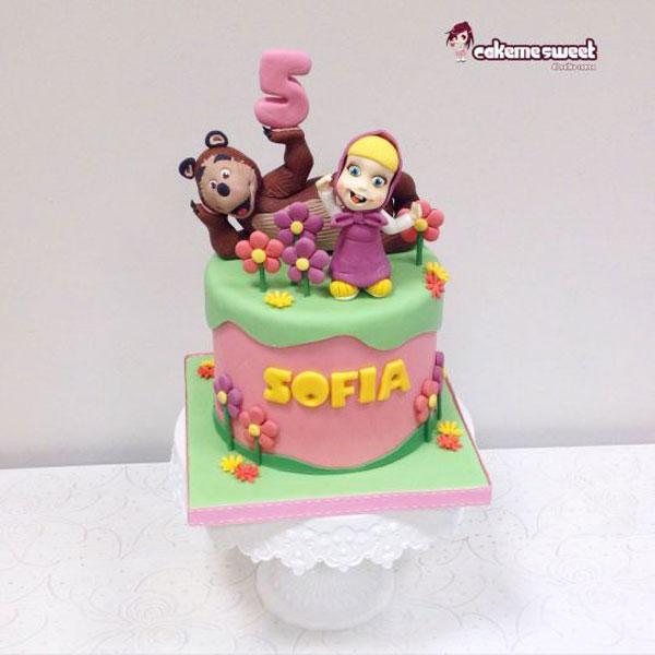 Immagine della torta di Masha e Orso n.51