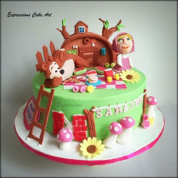 Immagine della torta di Masha e Orso n.52