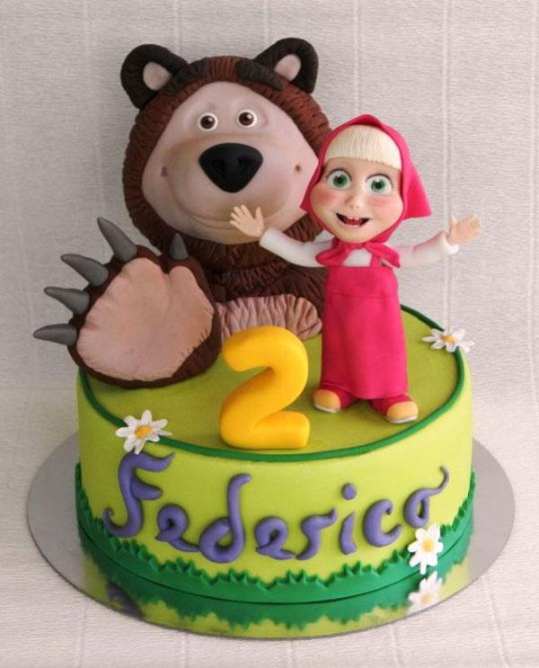 Immagine della torta di Masha e Orso n.53