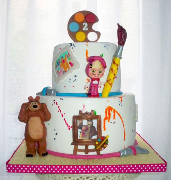 Immagine della torta di Masha e Orso n.54