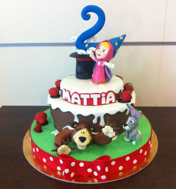 Immagine della torta di Masha e Orso n.56