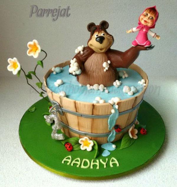 Immagine della torta di Masha e Orso n.58