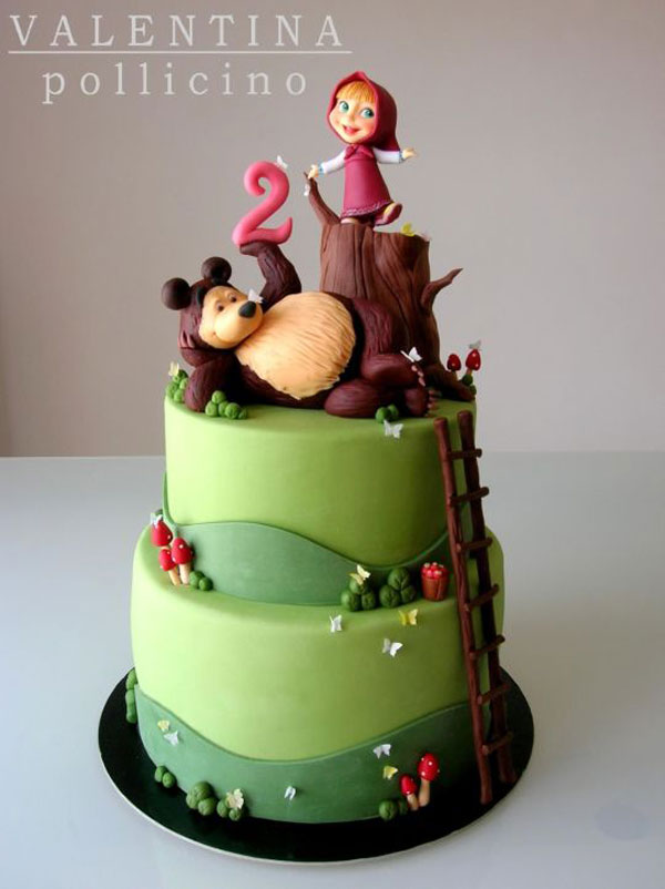 Immagine della torta di Masha e Orso n.59