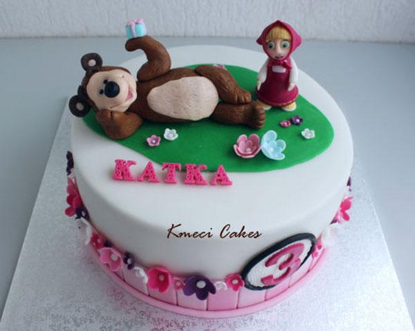 Immagine della torta di Masha e Orso n.60