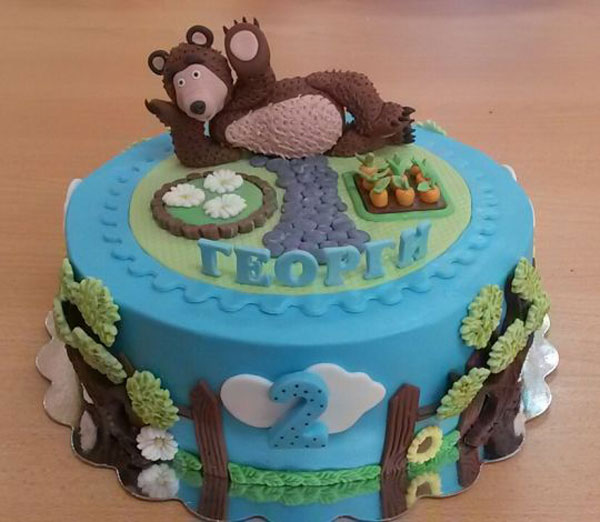 Immagine della torta di Masha e Orso n.61